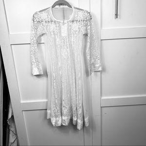 victorian style white dress